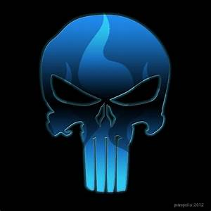 Punisher Skull Blue | www.pixshark.com - Images Galleries ...