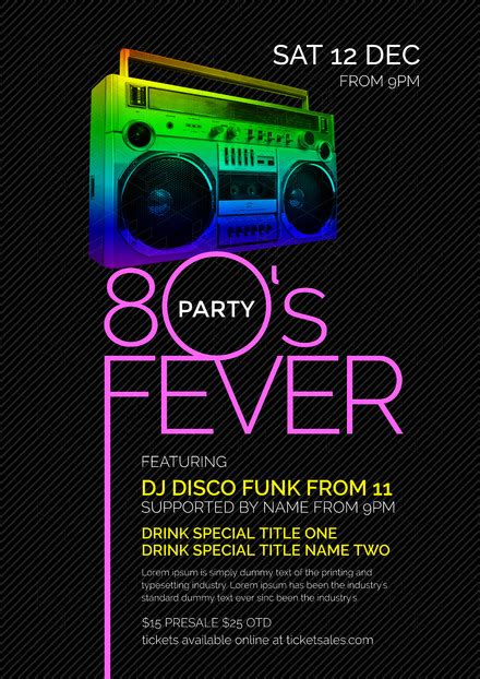 customizable theme nights poster templates diy  easil