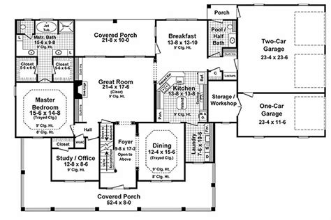 country style house floor plans country style house plan 4 beds 3 5 baths 3000 sq ft