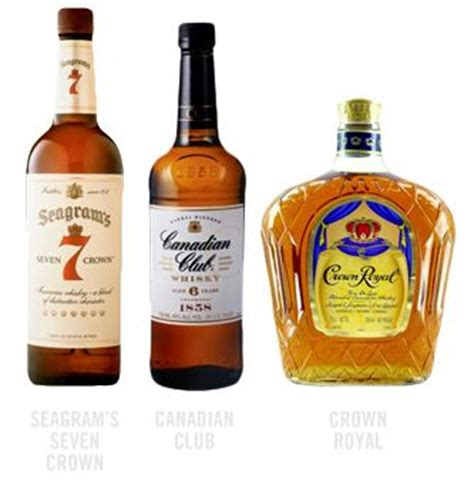 brands of whiskey common canadian whisky brands wine dine pinterest