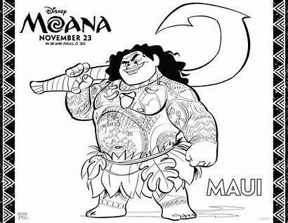 Moana Coloring Printable Sheets Pages Activity Modern