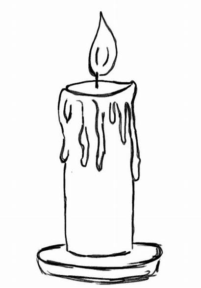 Candle Coloring Christmas Pages Candles Printable Clipart