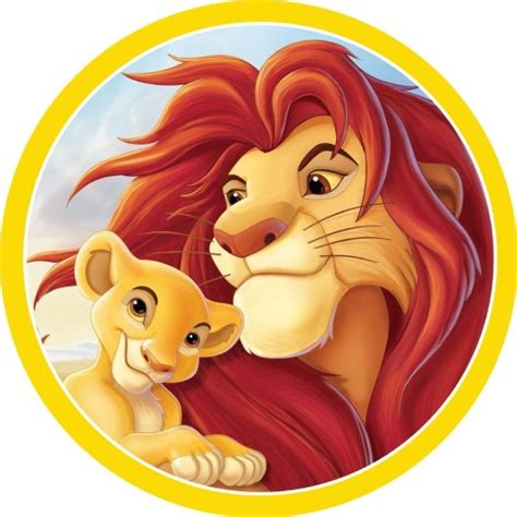 lion king classic  edible icing cake image cm