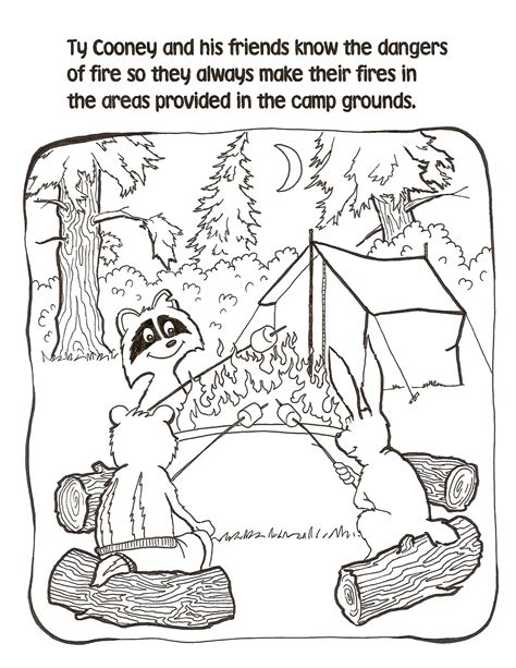 campfire coloring pages getcoloringpagescom
