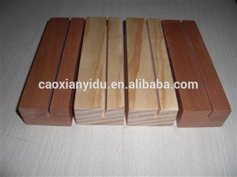 high quality wooden wedding table number cards holder stand beech wood craft  home restaurant