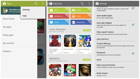 New Google Play Store 44 With Slideout Navigation Drawer