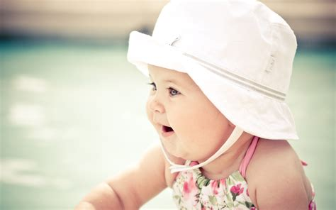 Cute Baby With Hat Wallpapers