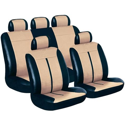 eufab 28289 buffalo car seat cover set black beige from