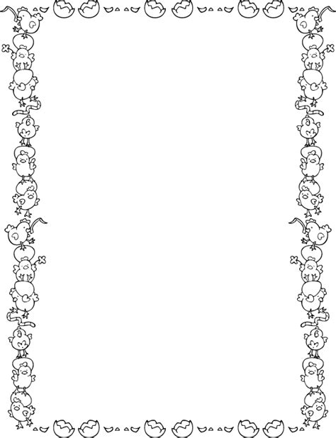 easter border clipart black and white easter drawings