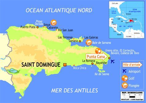 Punta Cana Carte Géographique Monde by Les Caraibes 8j