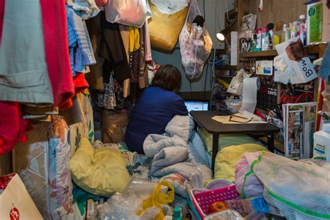 shocking images  people living  extremely tiny spaces