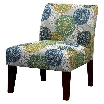 Floral Upholstered Living Room Chairs by Avington Upholstered Slipper Chair Blue Green Yellow