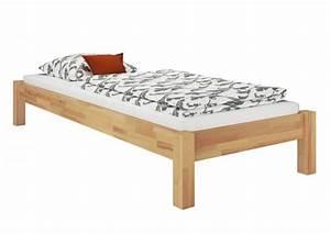 Bett Holz 90x200 : futonbett g stebett einzelbett 90x200 massivholzbett buche natur ohne zubeh r or ~ Markanthonyermac.com Haus und Dekorationen