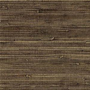 Knotted Grass Wallpaper in Dark Brown from the Grasscloth ...