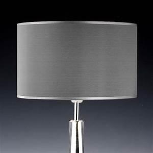 Stehlampe Lampenschirm Ersatz : lampenschirm grau seide rund 35 x 20 cm online shop direkt vom hersteller ~ Orissabook.com Haus und Dekorationen