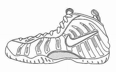 Nike Coloring Shoes Pages Drawing Air Shoe