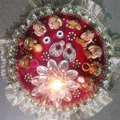 aarti thali decoration ideas  ganpati aati thali