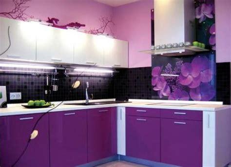 purple color kitchen сиреневая кухня 1681