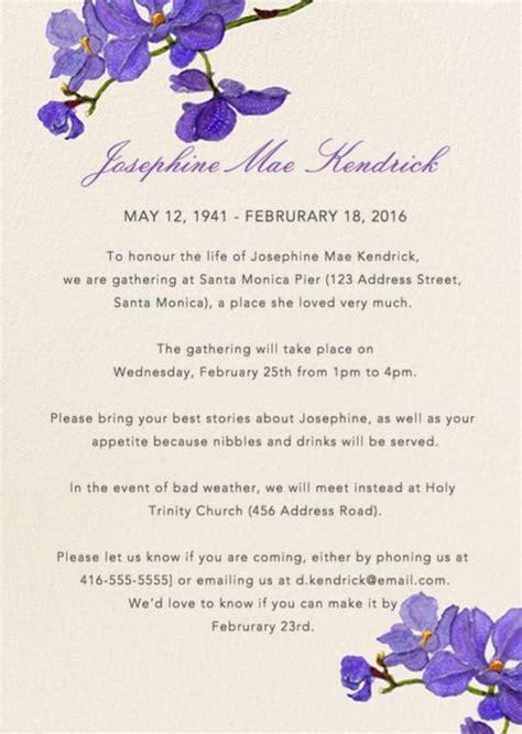 funeral reception invitations teta georgette