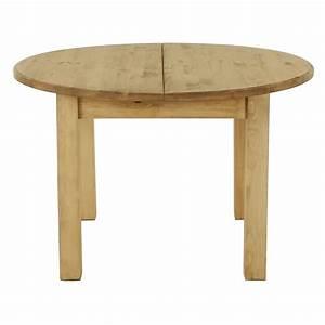 Table En Pin Massif : table ronde pin massif extensible 120cm avec rallonge ~ Teatrodelosmanantiales.com Idées de Décoration