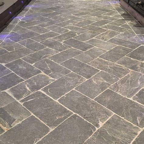 Tile Floring by Slate Herringbone Grey Tiles And Flooring