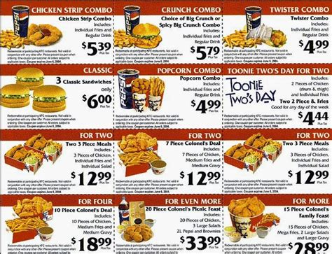 kfc coupons january