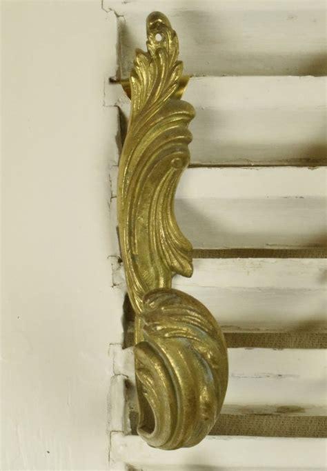 bs superb set  antique french brass curtain tie