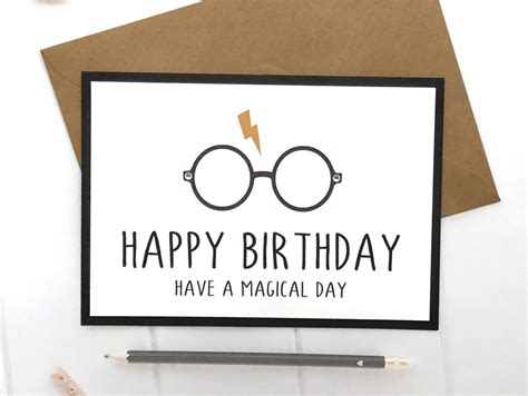 harry potter birthday card harry potter birthday gifts
