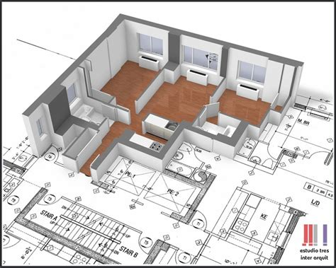 foto diseno arquitectonico de estudio tres inter arquit