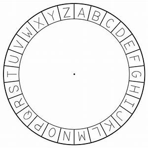 figure 1 5 the outer circle of the cipher wheel cutout With wheel letters