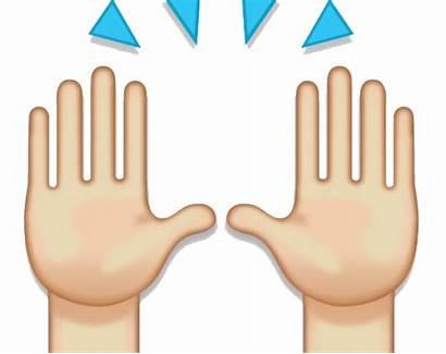 Emoji Praise Hands Clipart Percent Transparent Raised