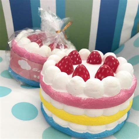 jumbo super soft cake squishy rainbow squishiessqueeze