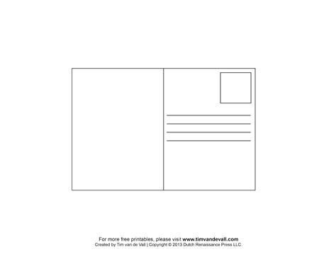 blank postcard template tim de vall comics printables for