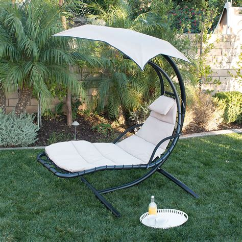 Hammock Chair Outdoor by Hanging Chaise Lounge Chair Hammock Swing Canopy Glider