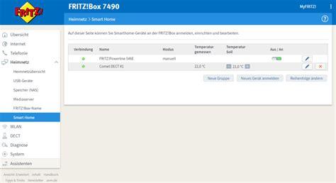 fritzbox 7490 smart home comet dect im test heizungssteuerung mit der fritz box