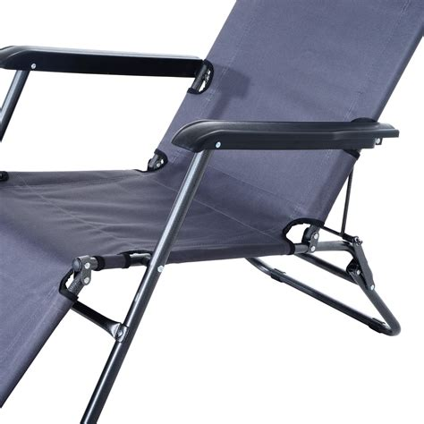 outdoor portable lounge chair aosom ca