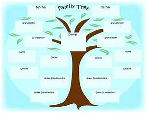 Template  Family Tree Diagram Template Microsoft Word