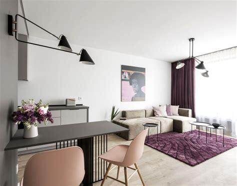 small studio apartment  feminine design interiorzine