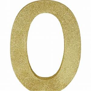 Glitter Gold Letter O Sign 7in X 9in
