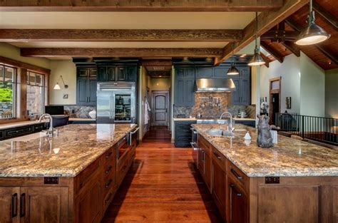 Gourmet Kitchen with Two custom Islands and a Butler Prep