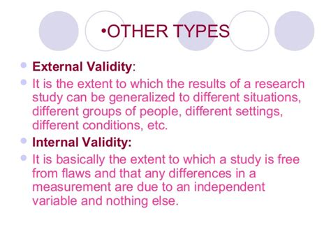 Ecological Validity Examples