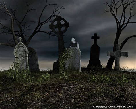 stock background creepy cemetery
