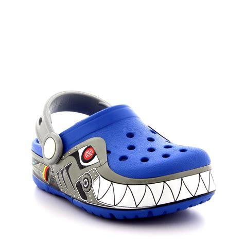 light up crocs boys crocs crocslights robo shark summer slip on
