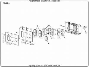 Homelite Ps906025pa Powerstroke 6 000 Watt Generator Parts
