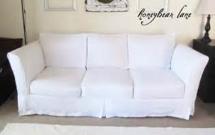 sofa covers how to make a slipcover part 2 slipcover reveal honeybear