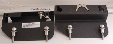 victory motorcycle quick release saddle bag bracket kit