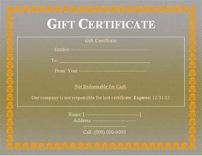 Certificate Gift Template Sample Templates Word