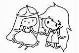 Coloring Cartoon Pages Princess Colors Printable sketch template