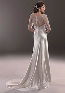 Vintage satin wedding dresses sang maestro for Vintage satin wedding dress