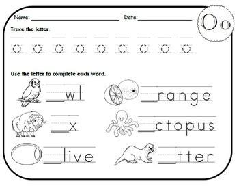 letter o worksheets letter o worksheets by kindergarten swag teachers pay 33961